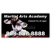Martial Arts Academy Magnetic Sign