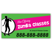 Zumba Classes Magnetic Sign