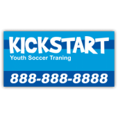 Kickstart Soccer Training Magnetic Sign
