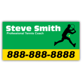 Tennis Coach Magnetic Sign