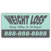 Weight Loss Magnetic Sign
