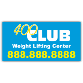 400 Club Weight Lifting Magnetic Sign