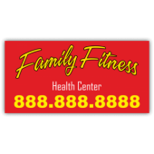 Family Fitness Health Center Magnetic Sign