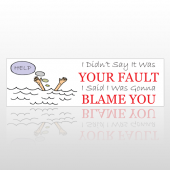 Blame You 104 Bumper Sticker