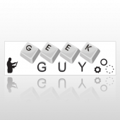 Geek Guy 127 Bumper Sticker