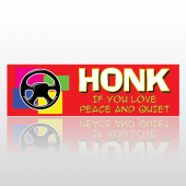 Honk Peace 255 Bumper Sticker