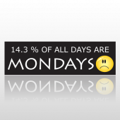 Mondays Frown 259 Bumper Sticker