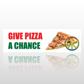 Pizza Chance 60 Bumper Sticker