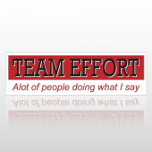 Team Effort 102 Bumper Sticker