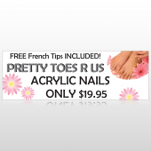 Floral Pedicure 293 Custom Decal