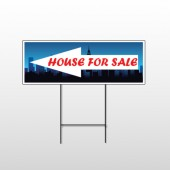 House Rent Night City 712 Wire Frame Sign