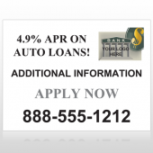 Auto Loan 155 Custom Decal