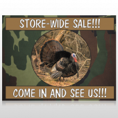Hunt Turkey 409 Site Sign