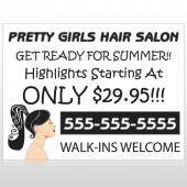 Pretty Girl Hair 290 Custom Decal