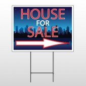 House Sale Night City 713 Wire Frame Sign
