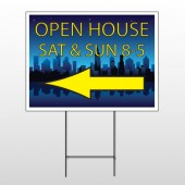 Open House Night City 706 Wire Frame Sign