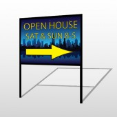 Open House Night City 707 H-Frame Sign
