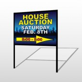 Open House Night City 709 H-Frame Sign