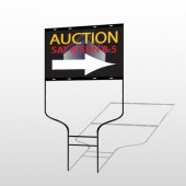 Auction Corner 701 Round Rod Sign