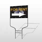 For Rent Corner 703 Round Rod Sign