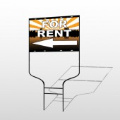 For Rent 720 Round Rod Sign