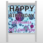 "Birthday Dots 16 48""H x 48""W  Site Sign"