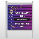 "Purple Stripes 142 48""H x 48""W Site Sign"