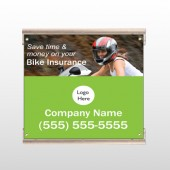 Bike Insurance 110 Track Sign