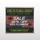 Black And Floral 496 Track Sign