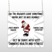Health Santa 402 Window Sign
