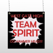 Team 43 Window Sign