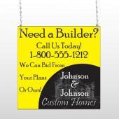 Yellow House Plan 216 Window Sign