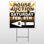 Auction Left Arrow 716 Wire Frame Sign