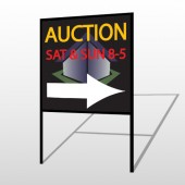 Auction Corner 701 H-Frame Sign