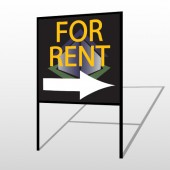 For Rent Corner 703 H-Frame Sign