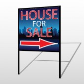 House Sale Night City 713 H-Frame Sign