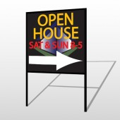 Open Corner 649 H-Frame Sign