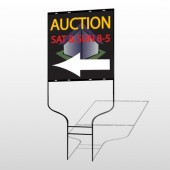 Auction Corner 650 Round Rod Sign