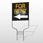 For Rent Corner 702 Round Rod Sign