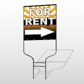 For Rent 721 Round Rod Sign