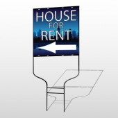 House Rent Night City 710 Round Rod Sign