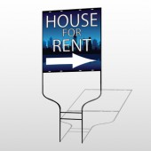House Rent Night City 711 Round Rod Sign