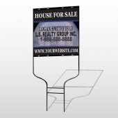 House Snow Globe 852 Round Rod Sign