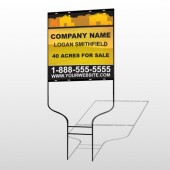Yellow Land & Housing 861 Round Rod Sign