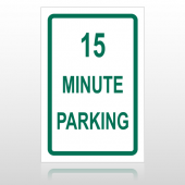 15 Min Parking 10001 Parking Lot Sign