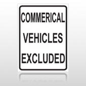 Commercial 10077 Parking Lot Sign