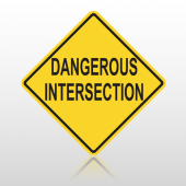 Danger Intersection 10091 Road Sign