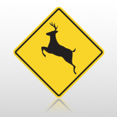 Deer 10097 Road Sign