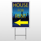 House Rent Night City 710 Wire Frame Sign