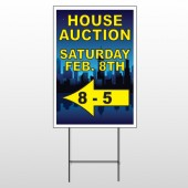 Open House Night City 708 Wire Frame Sign